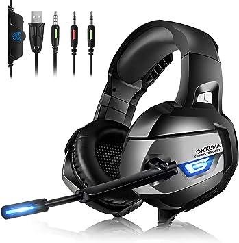 Auriculares Gaming ps4, Cascos Gaming con Micrófono Reducción de Ruido para PS4, Xbox One, Nintendo Switch, Sonido 7.1 Surround + Aislamiento, Auriculares Gamer para Videojuego: Amazon.es: Electrónica