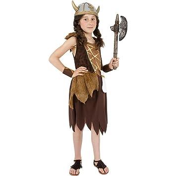 Net Toys Kinder Kostum Wickie Wikingerin Braun L 158 Cm Kinderkostum