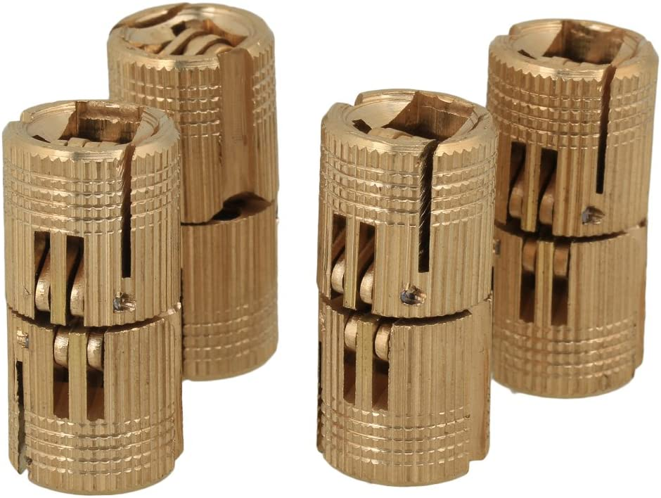 4pcs 14mm Size 2 Gold Spring Hinge Door Hidden Hinges Invisible Hinge