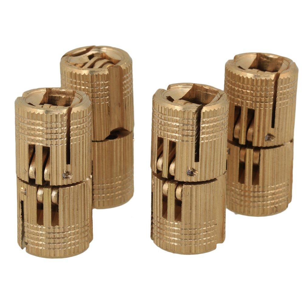 Durable Copper Hidden Invisible Hinge Barrel Concealed Hinge for DIY Wooden Door (diameter:12mm) RDEXPAM B820