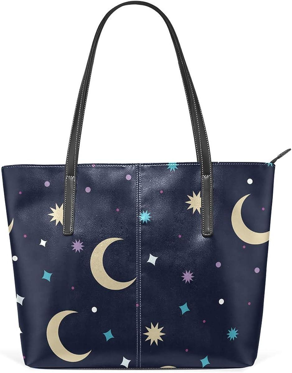 Womans Leather Tote Bag Moon Soft Capacity Shoulder Handbag