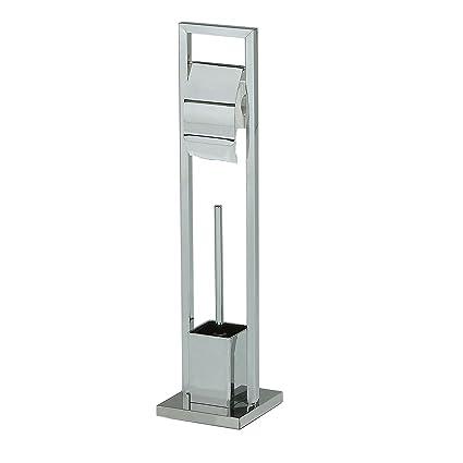 Beliebt IDIMEX WC Garnitur TOMA Toilettenpapierhalter und Bürste SF47