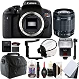 Canon EOS Rebel T6i 24.2MP Digital SLR Camera with 18-55mm EF-IS STM Lens and Accessories