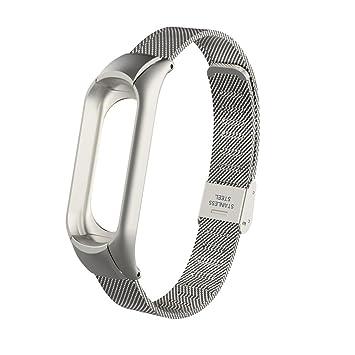 Fossrn para Xiaomi MI Banda 3, Moda de Acero Inoxidable Correa de Reloj Repuesto Pulsera Metal Banda para Xiaomi Mi Band 3