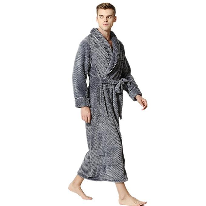 Casa Las Parejas Pijama Hombres y Mujeres de otoño e Invierno Cinturones Batas Engrosamiento lint Batas