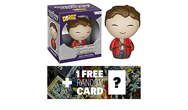 59392 1 FREE Official Marvel Trading Card Bundle Unmasked Star-Lord Funko Dorbz x Guardians of the Galaxy Mini Vinyl Figure