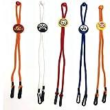 Huluob 𝐌𝐚𝐬𝐜𝐚𝐫𝐢𝐥𝐥𝐚𝐬 Holder Soporte para Cuello de Cuerda para niños Longitud Ajustable y Reutilizable Multicolor Entrega…