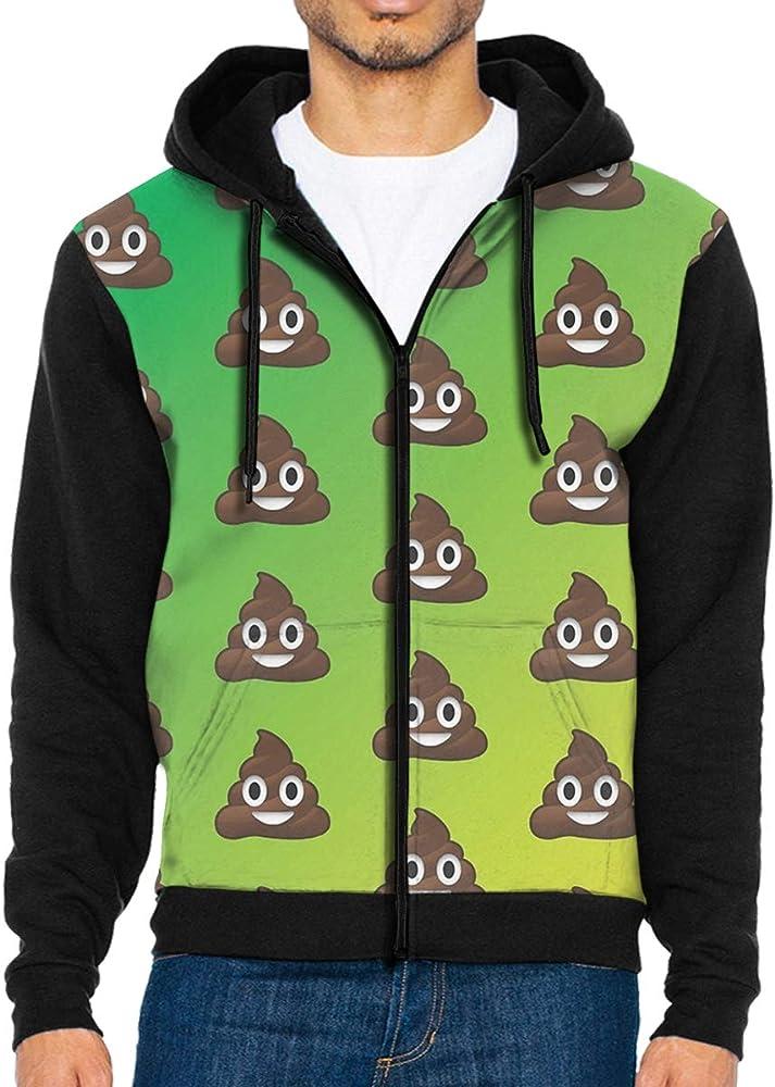 HEHE TAN Men Pullover Hood Avocado Zip Hoodies Hooded Cool Jackets Coats