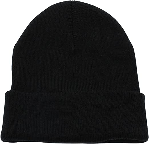 Cuff Beanie Plain Knit Hat Winter Warm Cap Slouchy Skull Ski Hat Warm Cap Unisex