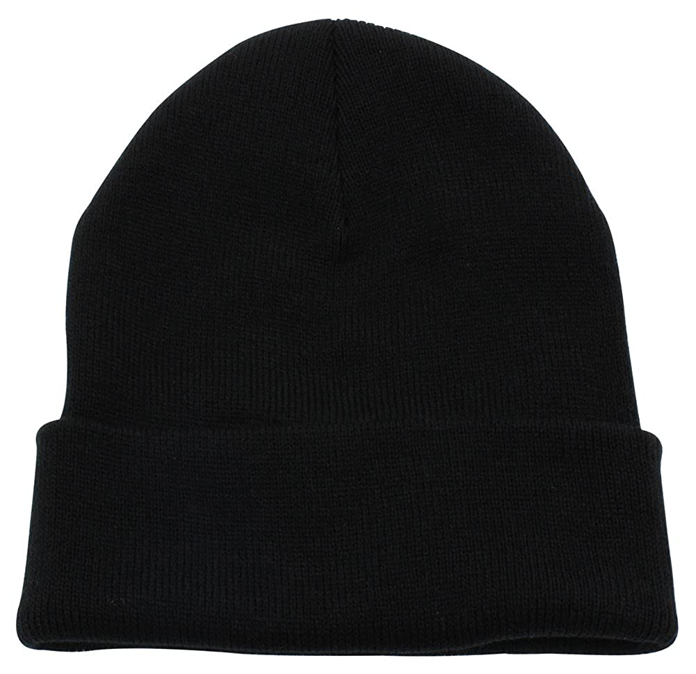371c8d810b5 Top Level Unisex Cuffed Plain Skull Beanie Toboggan Knit Hat Cap ...