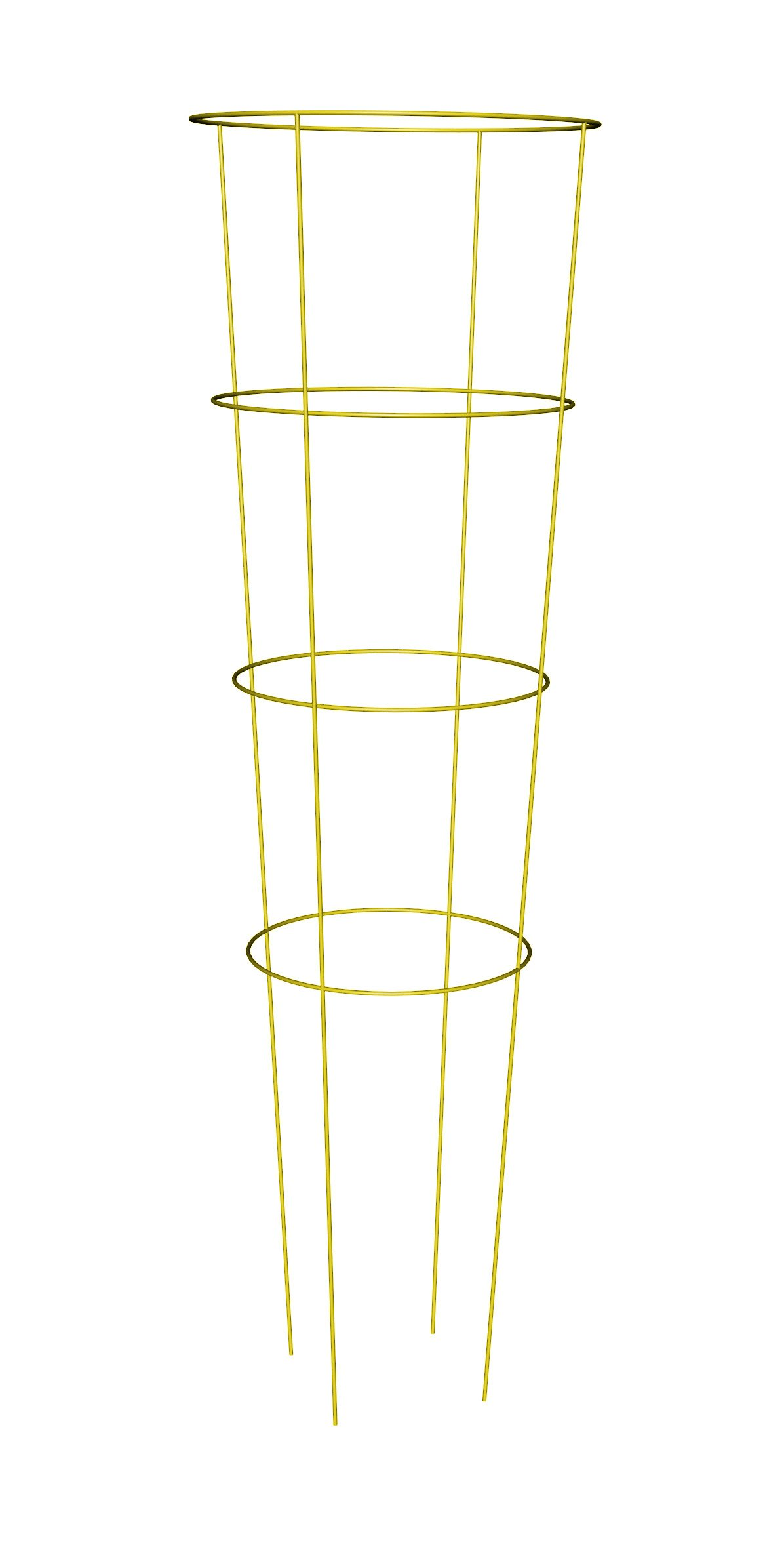 Panacea Products 89756 Heavy Duty Tomato Cage and Plant Support, 54 by 16-Inch, Yellow