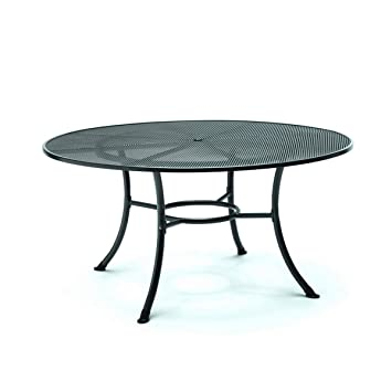 Kettler Mesh Top Round Table 150cm Iron Grey: Amazon.co.uk ...