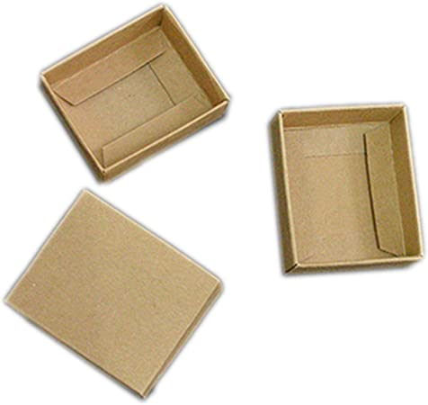 HOME+A - Caja de Regalo Grande con Tapa, Caja pequeña de cartón, Caja de jabón, Cajas de Papel para embalar, Color Blanco y Negro, Synthesis, Beige, 6x5x2cm: Amazon.es: Hogar