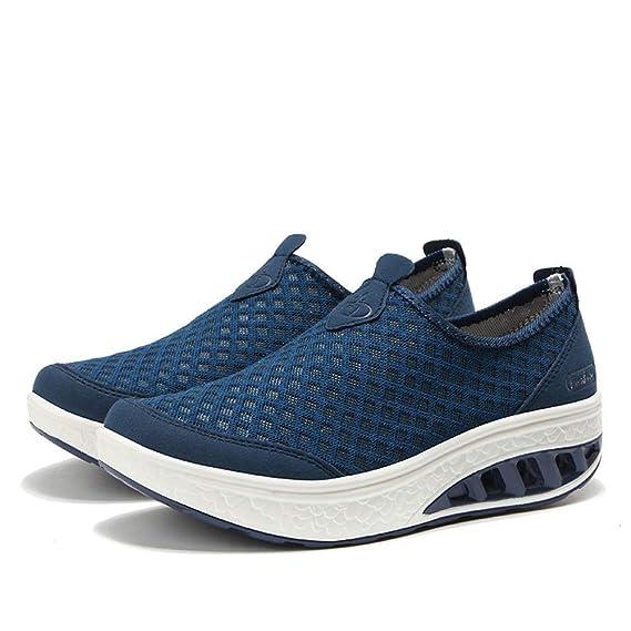 ❤ Zapatillas de Mujer, Zapatillas de Deporte de Malla al Aire Libre Zapatillas de Deporte de Suela Gruesa Zapatillas de Deporte de Malla Absolute: ...