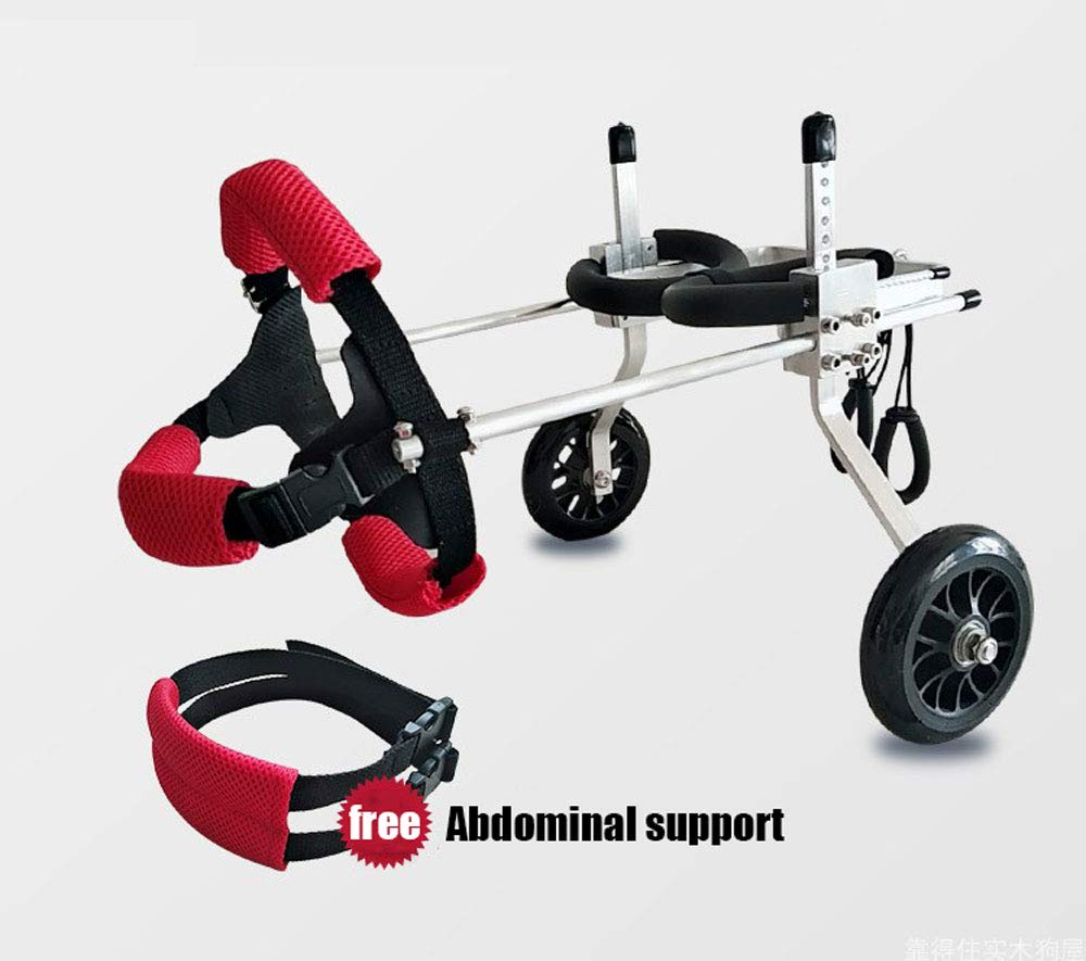 犬用車椅子、1kg(2.2lbs)-20kg(44ポンド)、後ろ足付き大型小型犬に適していますペット用補助ウォーキング、マルチサイズオプション (サイズ さいず : Xs xs) B07HH23CQH  XXS XXS