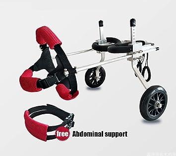 Silla de ruedas para perros, coche para perros, Adecuado para mascotas Pata trasera Práctica Rehabilitación Miembro Discapacitado Discapacitado Lesionado ...