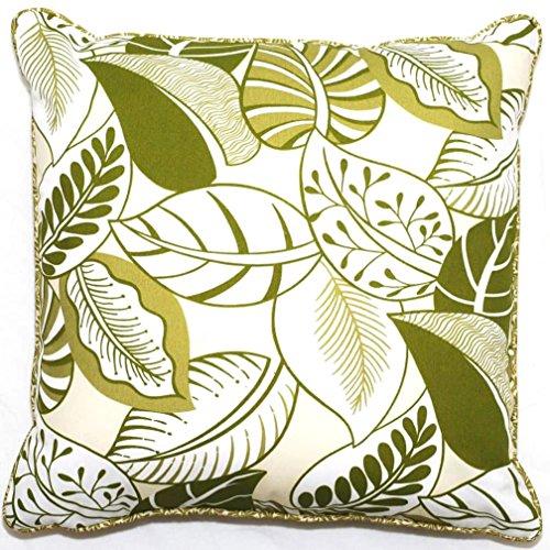 Corona Decor Green Floral Outdoor Living 18-inch Throw Pillow (Corona Patio Furniture)