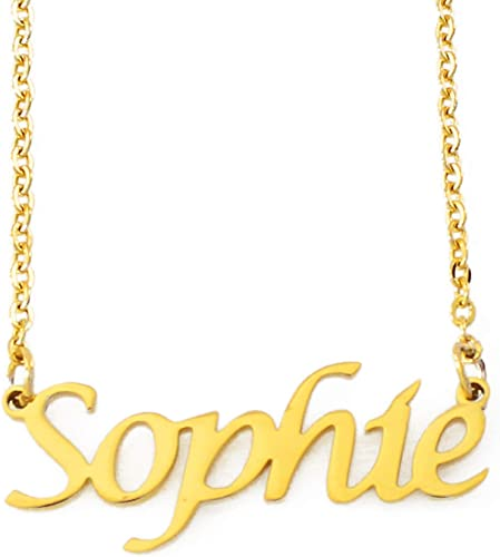 Abigail Name Necklace Stainless Steel// 18ct Gold PlatedCustom Made Gifts