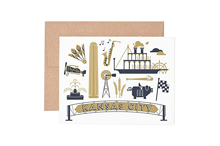 Amazon kansas city letterpress greeting card handmade kansas city letterpress greeting card reheart