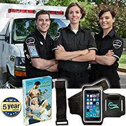 SafeWays Sports Armband - Full Touchscreen Functionality - Easy Access To Headphones, Camera - Smooth, Breathing, Lightweight - 5 Year Warranty