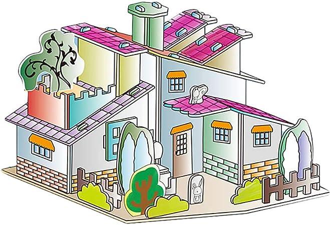 Zjb Puzzle 3d Para Dibujar En 3d Diseño De Casa De Graffiti Rompecabezas Tridimensional Juego Educativo Para Colorear 0 7 Fl Oz Papel Do M Arte Manualidades Y Costura