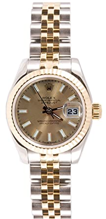 0468678f07c Rolex Ladys 179173 Datejust Steel & 18k Gold, Jubilee Band, Fluted Bezel &  Champagne