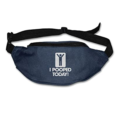 Yahui I Pooped Today Waist Bag Fanny Pack / Hip Pack Bum Bag For Man Women Sports Travel Running Hiking / Money IPhone 6 / 7 6S / 7S Plus Samsung S5/S6