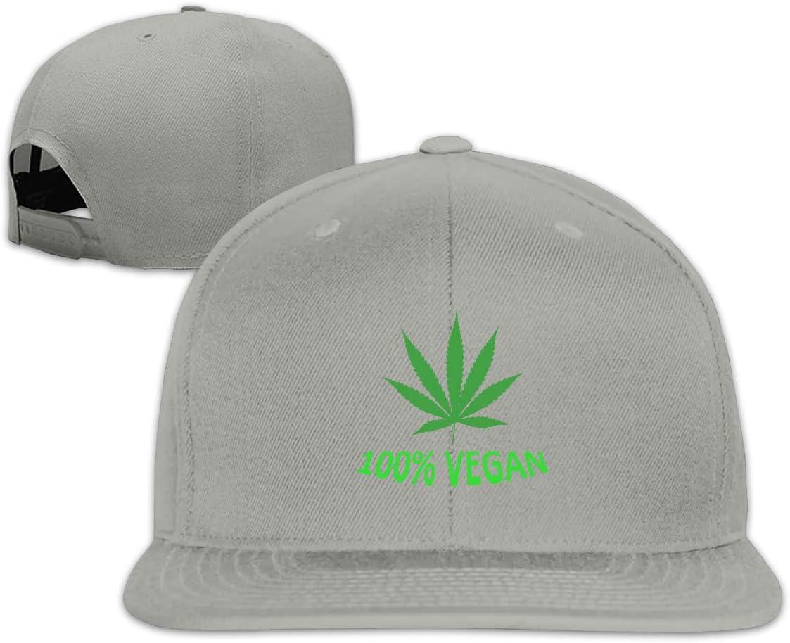 MOCSTONE Unisex Snapback Hat 100/% Vegan Leaf Weed Adjustable Baseball Cap
