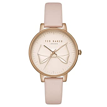 c057524b8 Image Unavailable. Image not available for. Color  Ted Baker Women s Brook  Stainless Steel Quartz Watch with Leather Strap ...
