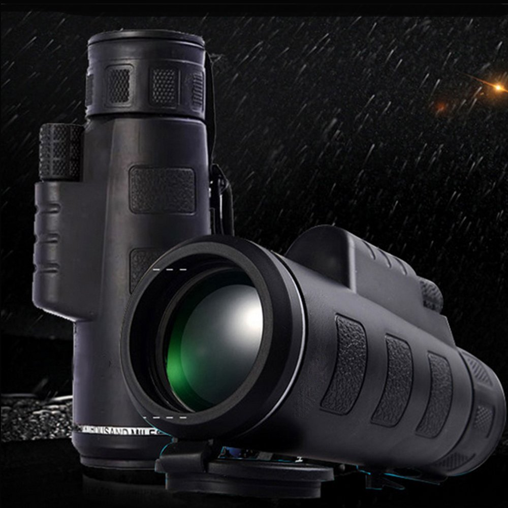 ENbeautter 40x60 Dual Focus Monocular Telescope Zooms + HD Mini Phone Camera Lens Night Vision Telescopes Lens with Tripod, Compass and Phone Interface for Smartphone 4060