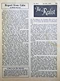 img - for THE REALIST No. 86-A, Jan. -Feb. 1970: Report from Cuba book / textbook / text book