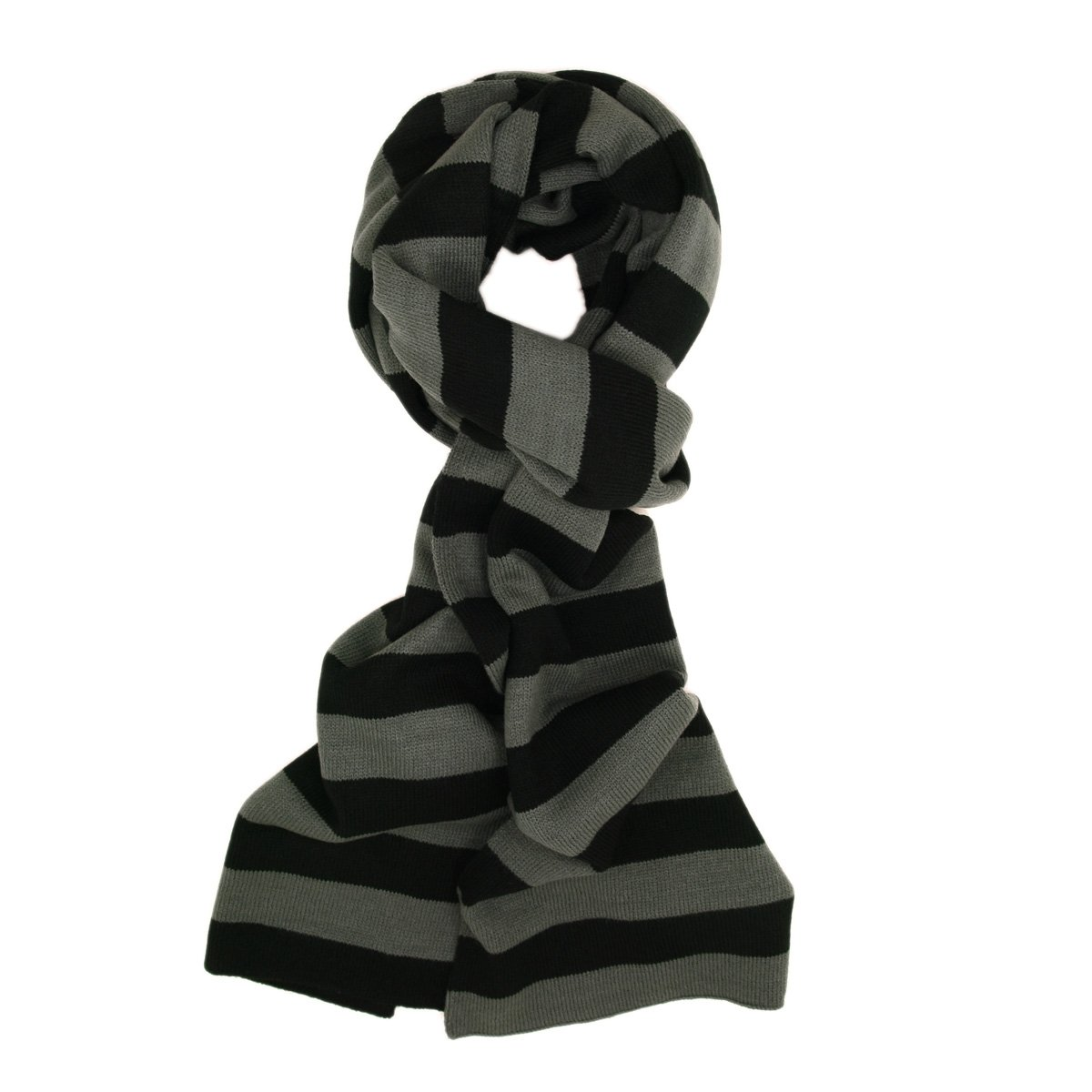 TrendsBlue Premium Soft Knit Striped Scarf - Different Colors Available Navy SC85135A-NAV