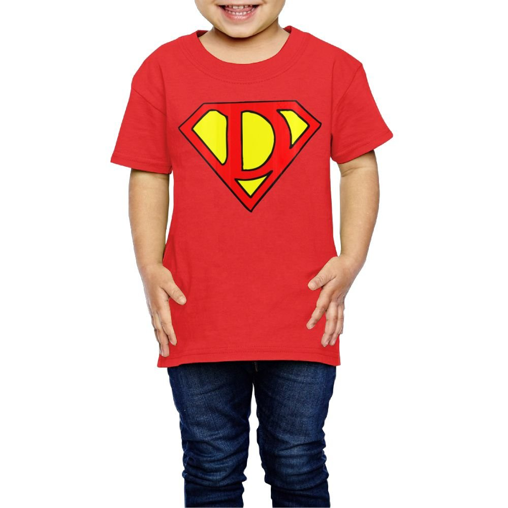 Yishuo Boys Super Dad Mug Cool Travel Shirt Short Sleeve Red 2 Toddler