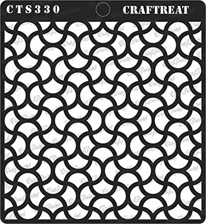 DIY Albums Floor Fabric Notebook Home Decor CrafTreat Stencil Scrapbook and Printing on Paper Reusable Painting Template for Journal Crafting Stone Background Wood 12X12 Tile Wall