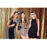 ShinyBeauty Shimmer Sequin Backdrop-8FTx10FT- Gold by ShinyBeauty
