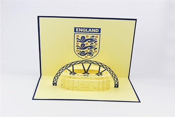 Handgemachte Pop Up Pop Up Papier Handwerk Kunst England Fußball Fußball  Wembley Stadion,