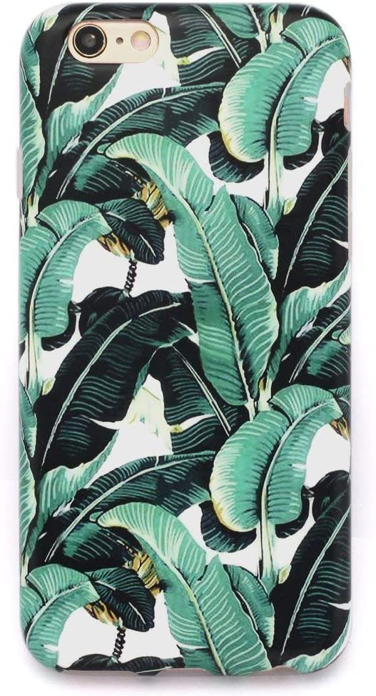 "GOLINK iPhone 6 Case for Girls/iPhone 6S Floral Case, Matte Floral Slim-Fit Ultra-Thin Anti-Scratch Shock Proof Dust Proof Anti-Finger Print TPU Case for iPhone 6/6S 4.7"" - Banana Leaves"