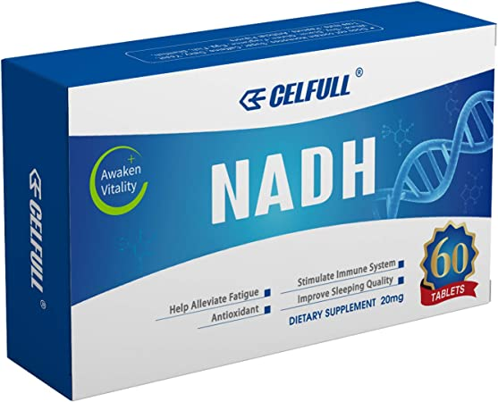 CELFULL Fully Stabilized NADH 40mg Per Serving Enhanced Absorption, Boost Energy NAD+ Levels (60 Tablets X 20mg) Anti-Aging Reduced Nicotinamide Adenine Dinucleotide Supplement