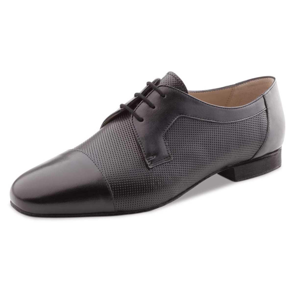 1,5 cm Micro-Heel Cuir Noir Werner Kern Hommes Chaussures de Danse 28049