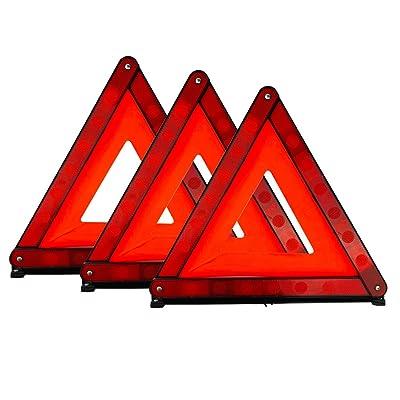 Yubo Early Warning Road Safety Triangle Emergency Warning Kit Triangular Reflector, Reflective, 3 Packs: Automotive [5Bkhe2007502]