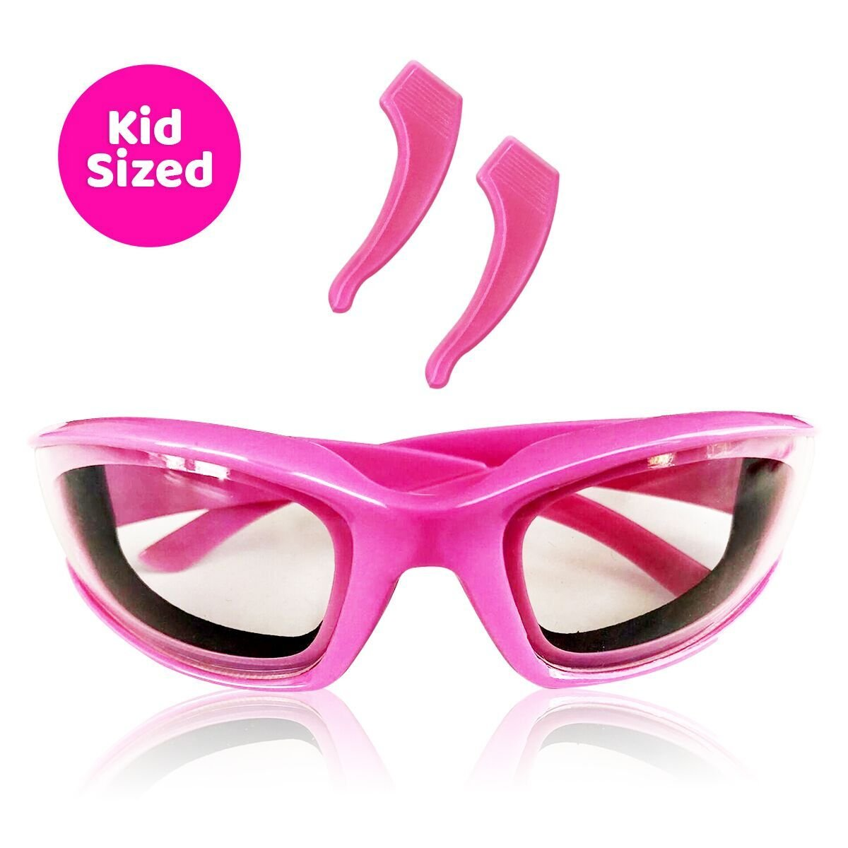 Kids Onion Goggles – Premium, Snug Fitting, Foam Lined Cooking Glasses for Kids Offer 100% TEAR FREE Protection from Onions, Grease Splatter, Steam and BBQ Smoke. BEST chef eye wear for kids