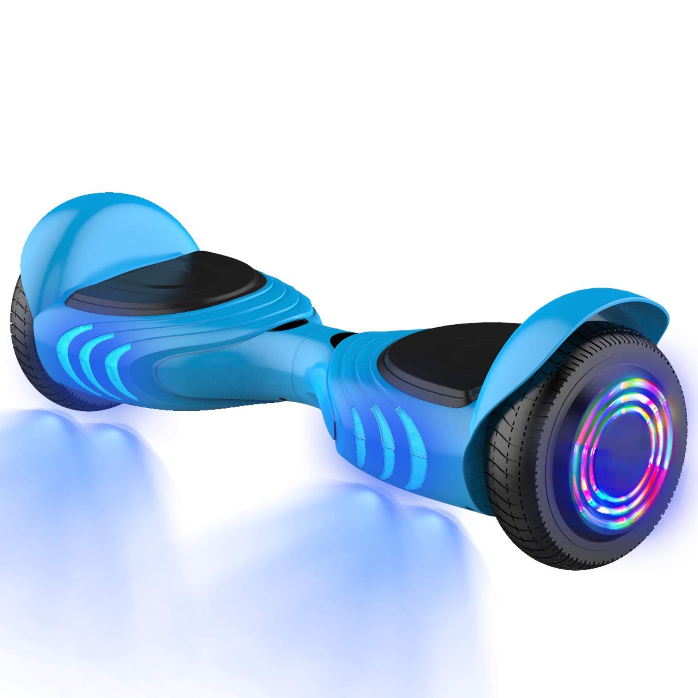GeekMe Gyropode 6.5 Pouces Dual Moteurs Board Hover Scooter Auto-équilibré UL2272 avec Bluetooth Lumières Cool No.Q Tomoloo