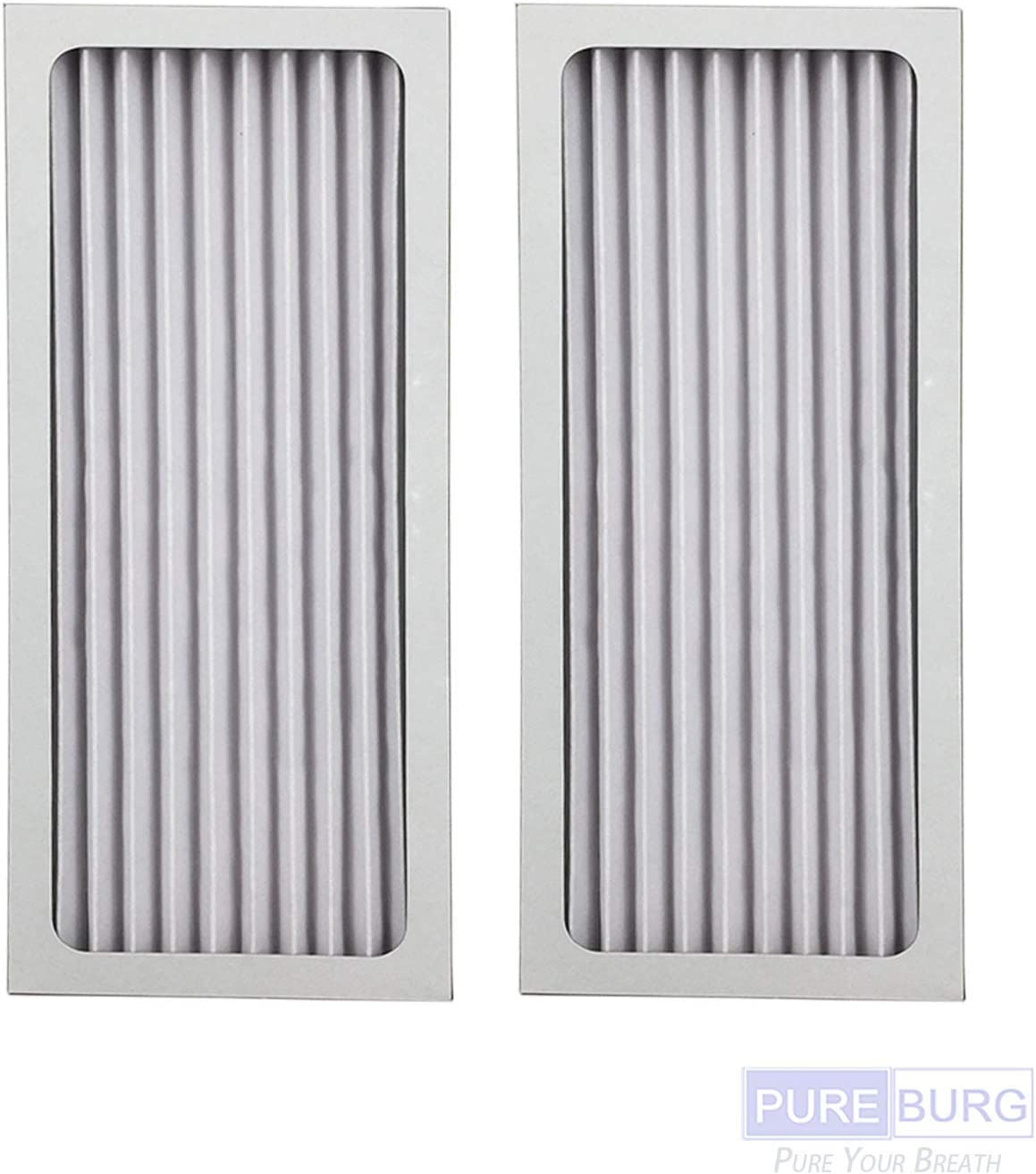 PUREBURG 2-Pack Replacement HEPA Air Filters for Hamilton Beach 990051000 fits TrueAir Glow Compact Pet 04383 04384 04385 04386 Air Purifiers