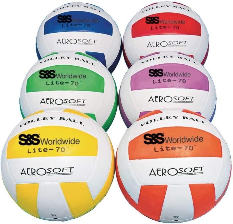S&S Worldwide Spectrum Lite-70 バレーボールセット (6個セット)