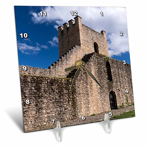 3dRose Danita Delimont - Spain - Spain, Andalusia, The historic roman stone wall at the edge of Ronda. - 6x6 Desk Clock (dc_277900_1) by 3dRose