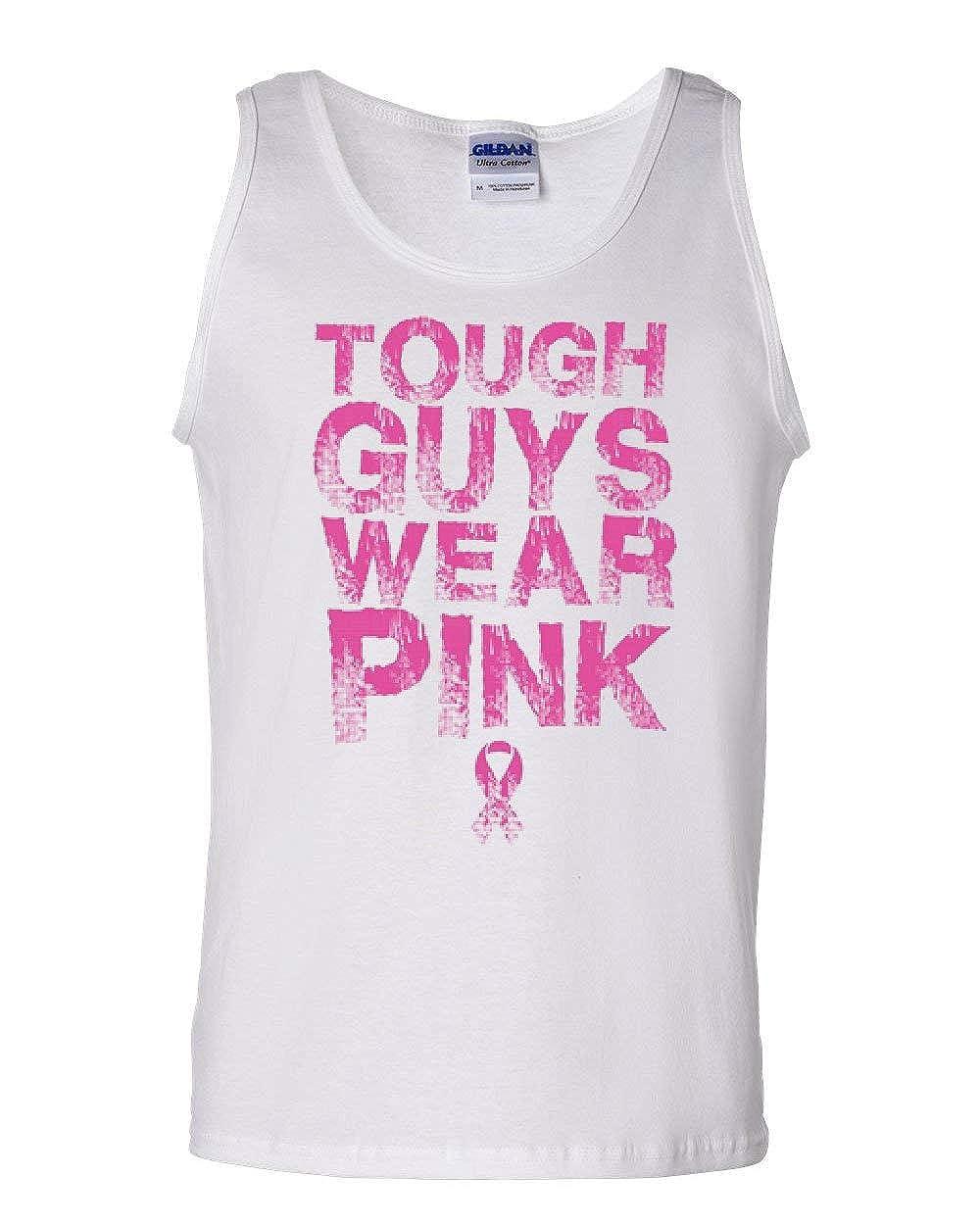 Tough Guys Wear Pink Tank Top Breast Cancer Awareness Pink Ribbon Sleeveless