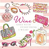 Ideal Home Range C712000 Rosanne Beck 20 Count Paper Cocktail Napkins, Wine Goes With Everything