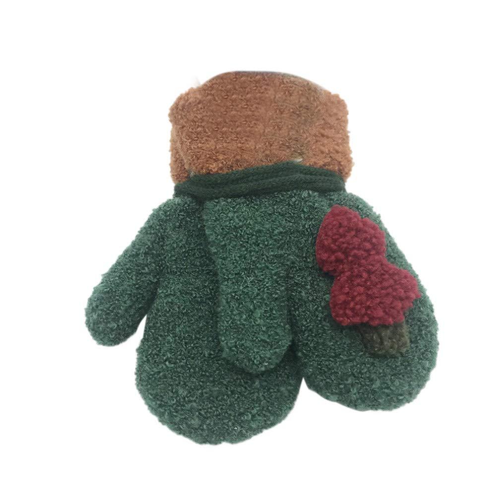 Memela Baby Winter Gloves,Christmas Tree Ornament Boys Girls Cute Warm Gloves Xmas Gift