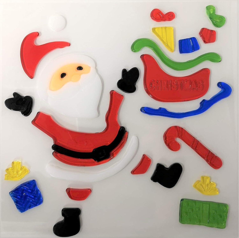 4x De No/ël Fen/être Stickers/-/Gel Saccroche En Verre D/écoration