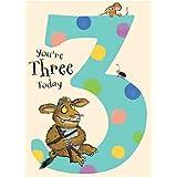 The Gruffalos Child Three Today 3rd Birthday Card